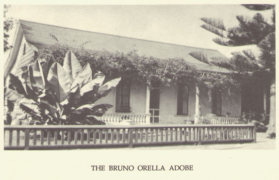Orella Adobe, State Street, Santa Barbara -Circa 1902, John Fritsche Collection