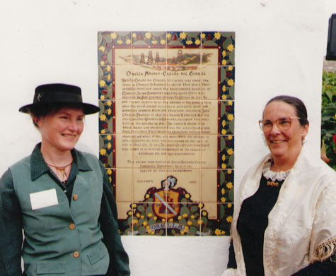 Judy Sutcliffe and Elizabeth Hvolboll at Cañada del Corral